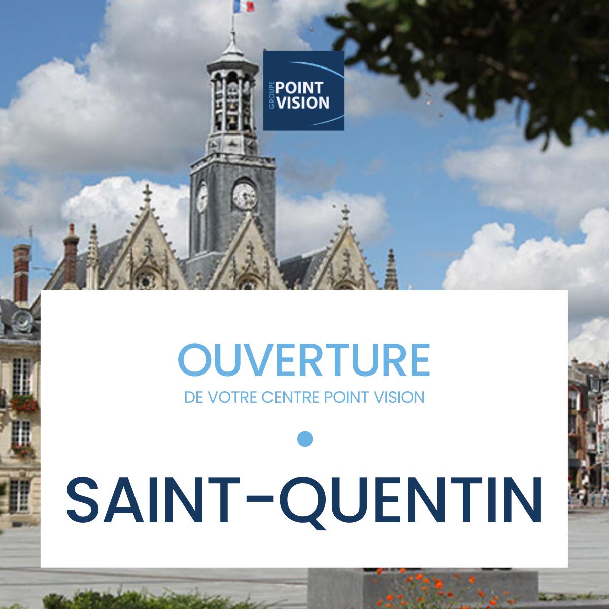 Le centre Point Vision de St-Quentin a ouvert ses portes depuis le 10 juin 2021.  Il est le site secondaire du centre Point Vision Lille Lesquin.